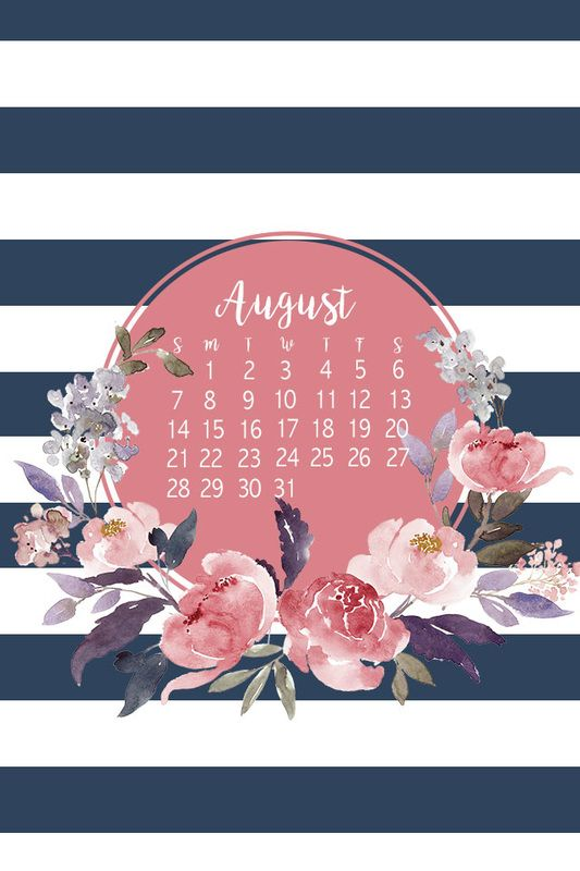 Free Phone Wallpaper Background For August Cute And Floral Jordan Santos Design Blog August Wallpaper Wallpaper Backgrounds Calendar Wallpaper