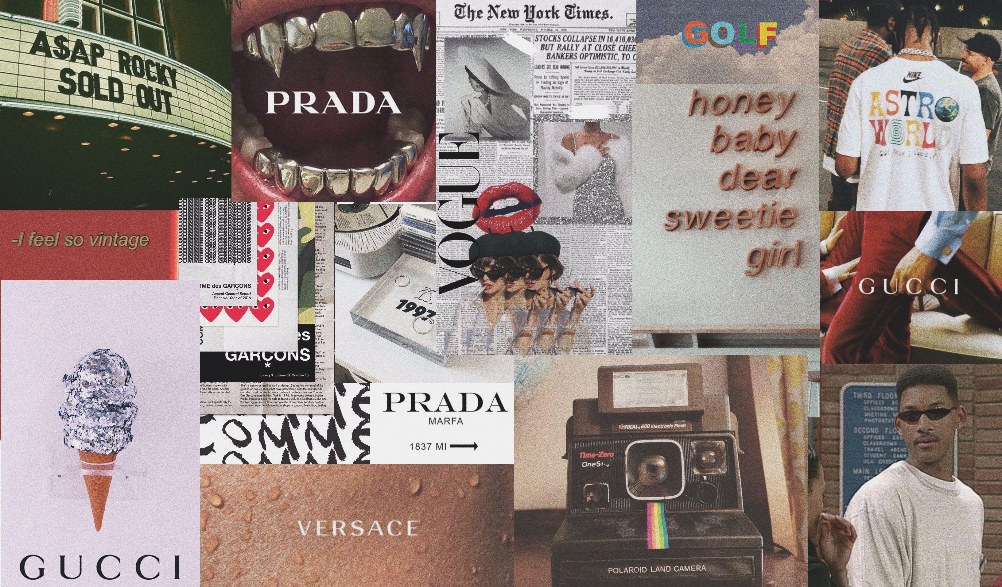 ästhetische Designer-Laptop-Collage | Aesthetic desktop ...