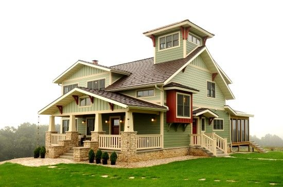 Tree Top Tower Front Elevation    Natural Element Homes