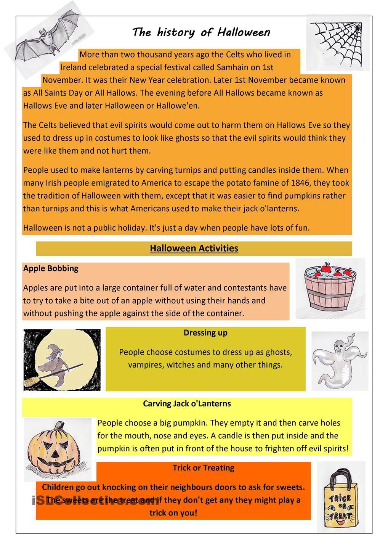 The History Of Halloween Halloween History Halloween Worksheets Halloween Lesson [ 1440 x 1018 Pixel ]