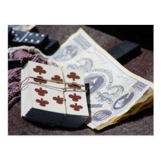 Civil War-Dominoes-Cards-Money Postcard