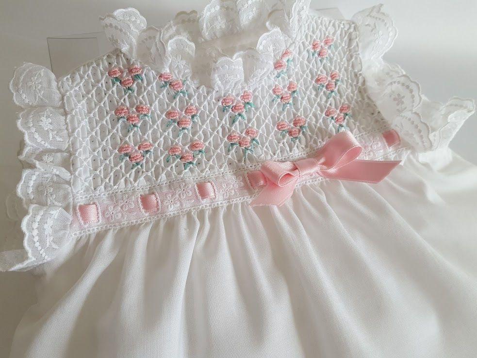 53a9c6c64 VESTIDO NIÑA-vestido bebé-talla 0-3 meses-primera puesta-punto
