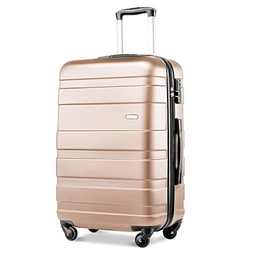 caad1278d349 Merax ® Lightweight Hard Shell 4 Wheel Travel Trolley Suitcase Luggage Set  Holdall Cabin Case (