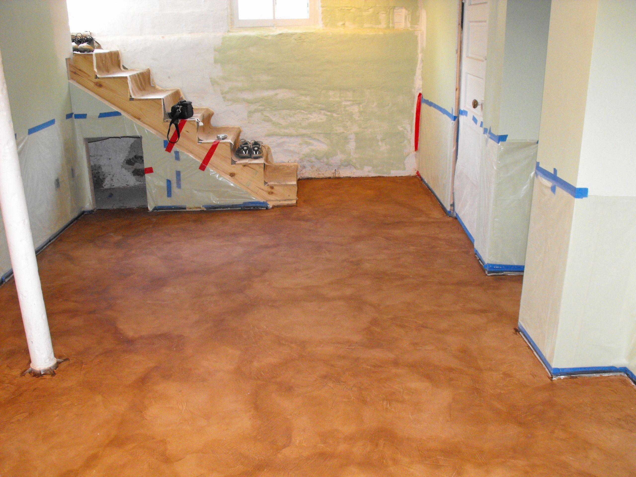 7 New Basement Floor Ideas Hardwood On Concrete Basement Floor Of Paint Basement Floor Concre In 2020 Painted Concrete Floors Flooring Basement Flooring Options