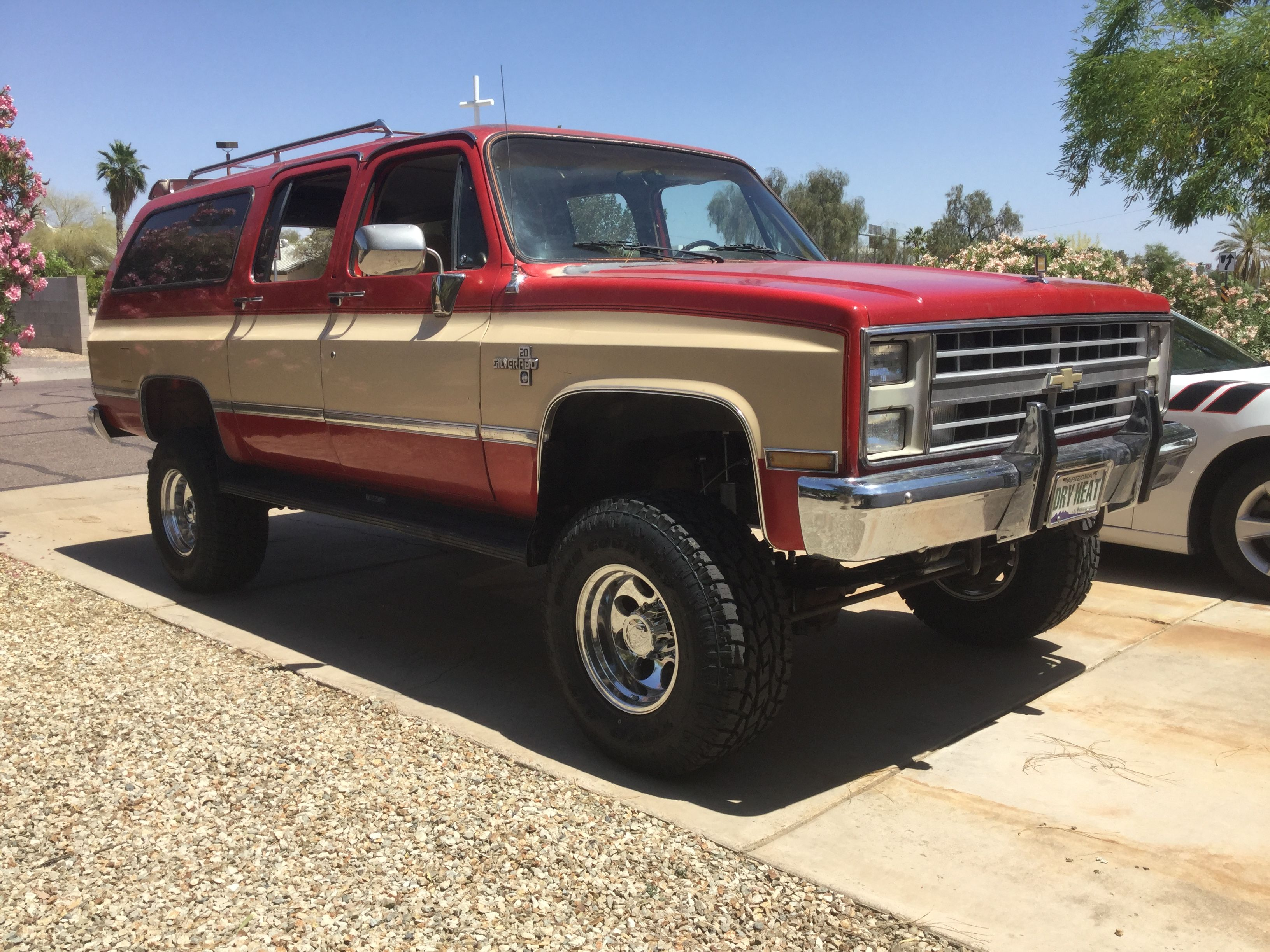 1985 chevrolet k20 suburban 4 rc spring lift 16x10 ion wheels 305 70 16 toyo tire s [ 3264 x 2448 Pixel ]