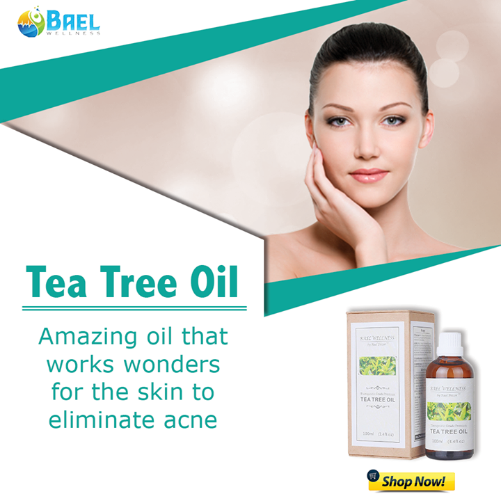 Tea Tree Oil: A super-ingredient to eliminate acne! Shop now - https://www.amazon.com/Bael-Wellness-Tea-Tree-Oil/dp/B00JXQV2WM?th=1 #teatreeoil #acne #skincare
