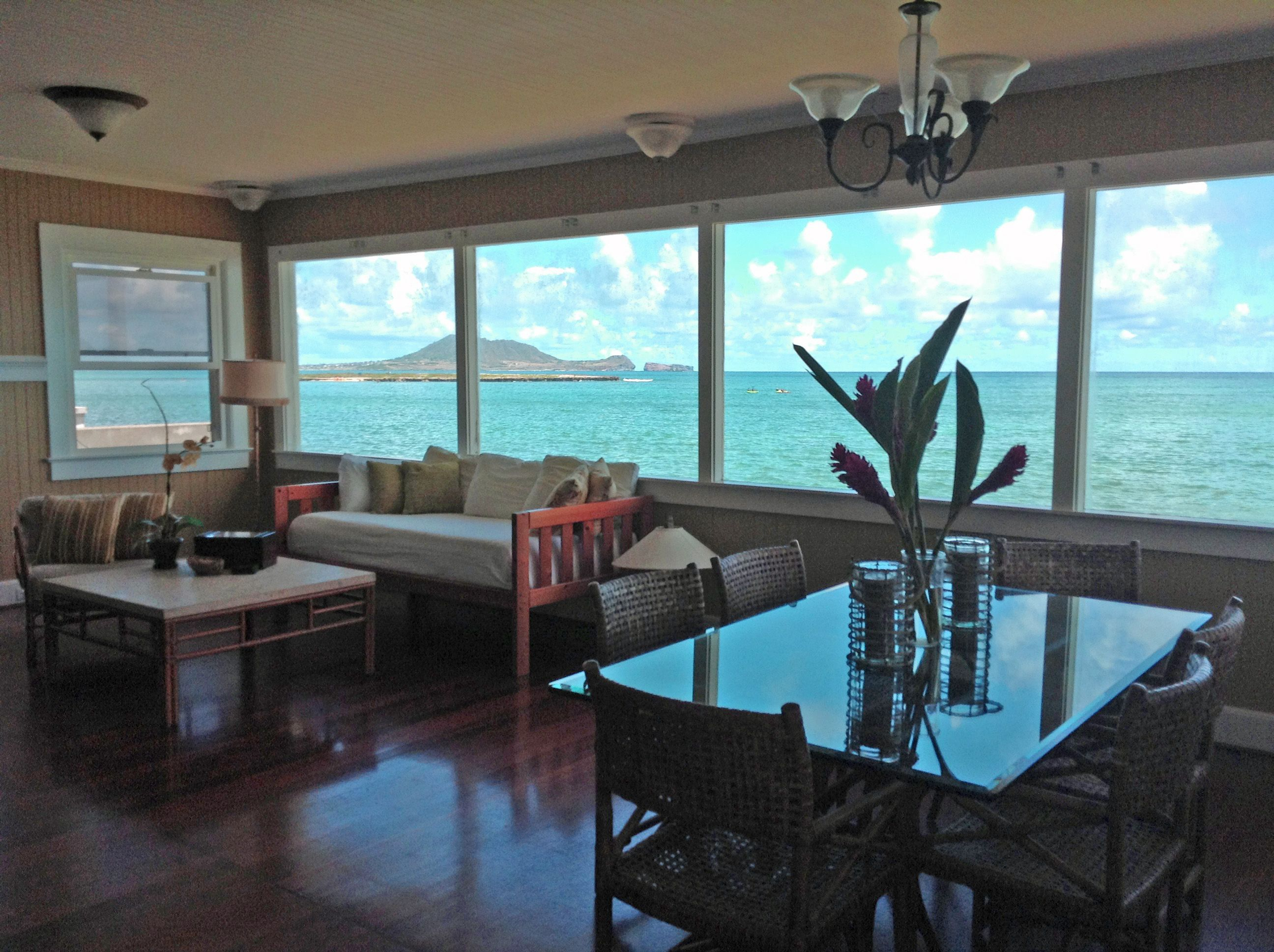 Oahu beach chair rental hawaii beach time - Lanikai Home For Rent Rare 3br 2ba Historic Oceanfront Lanikai Beach House For Rent