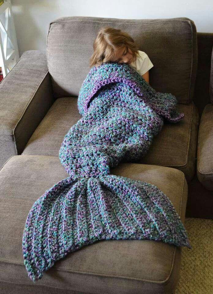 Knit Mermaid Tricot Couverture Queue De Sirène Projets à Essayer