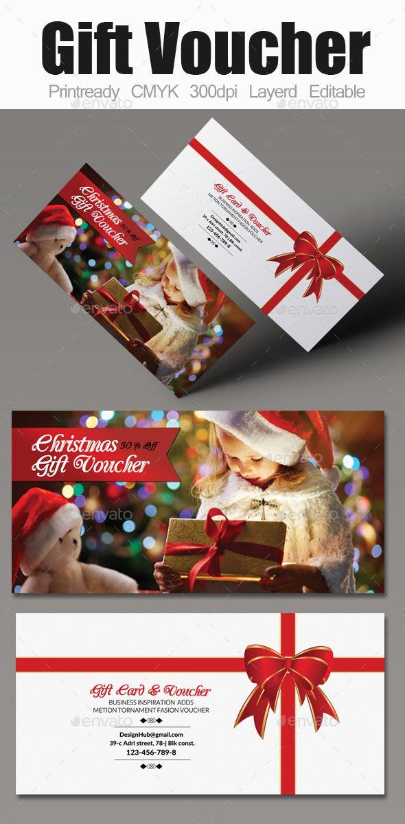 Christmas Gift Voucher Print templates, Template and Font logo - free voucher template downloads