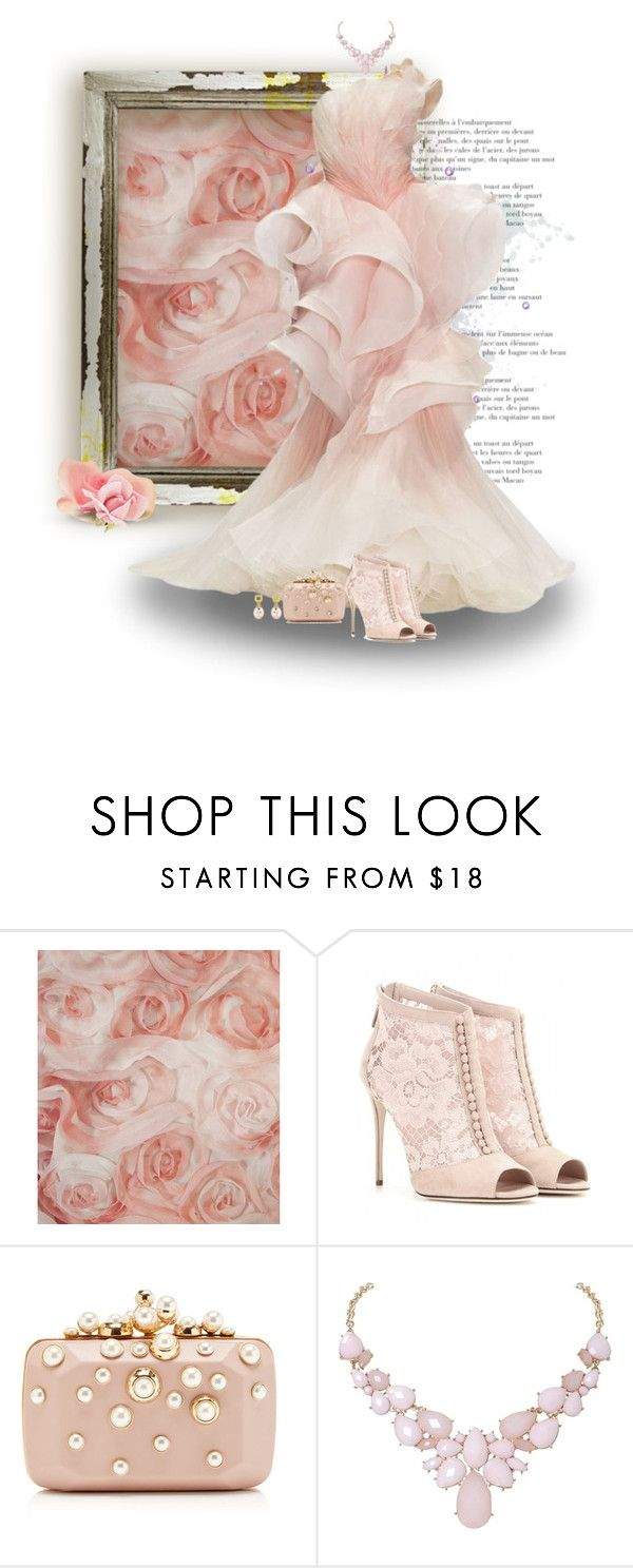 """""""roses"""" by sharonbeach ❤ liked on Polyvore featuring David Tutera, Dolce&Gabbana, Elie Saab, Humble Chic, Alex Åepkus and roses"""