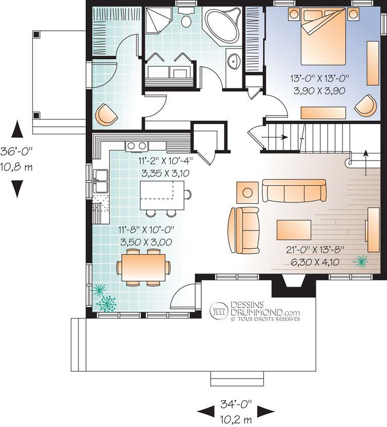 Bordure de lac / Chalet W3514 Maison Laprise - Maisons pré - plan de maison design