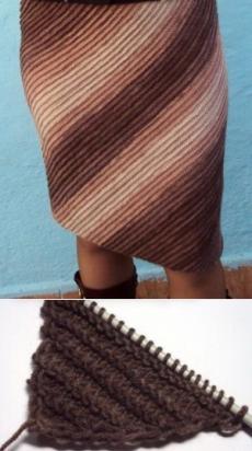Косое вязание спицами