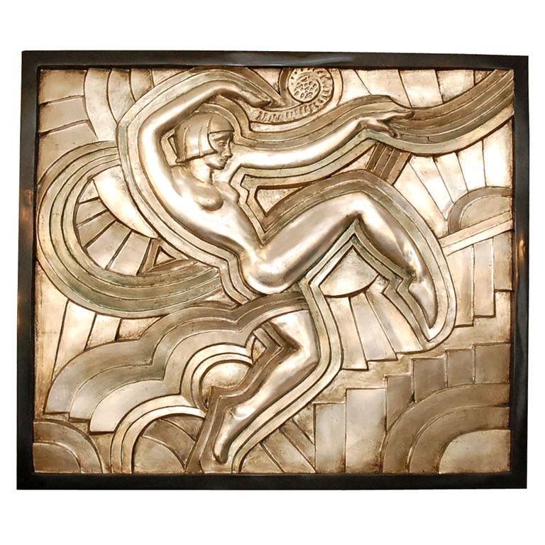 Art deco bas relief escultura decoraci n art deco y deco for Art deco decoracion