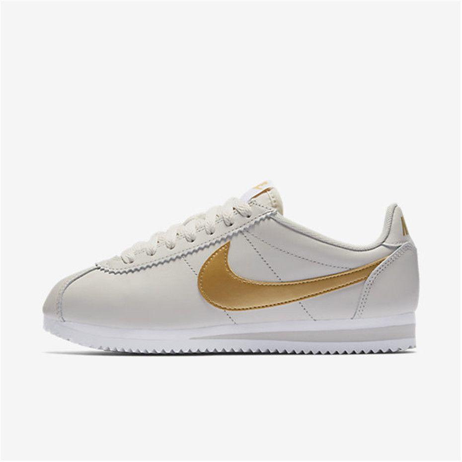 Nike Classic Cortez (Light Bone White Metallic Gold