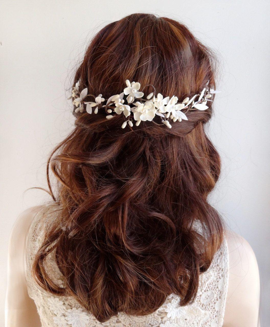 Frcolor Hochzeit Braut Stirnband Floral Haar Rebe Hochzeit Kopfschmuck Haarband