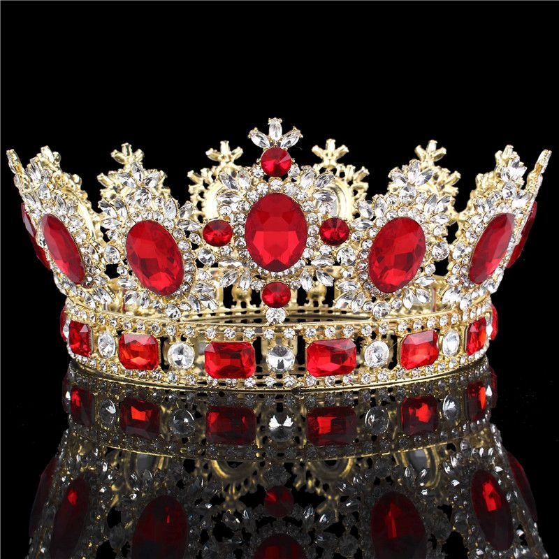 Tiara Gold Crown Wedding Prom Queen Quinceanera Pageant Princess Rhinestone