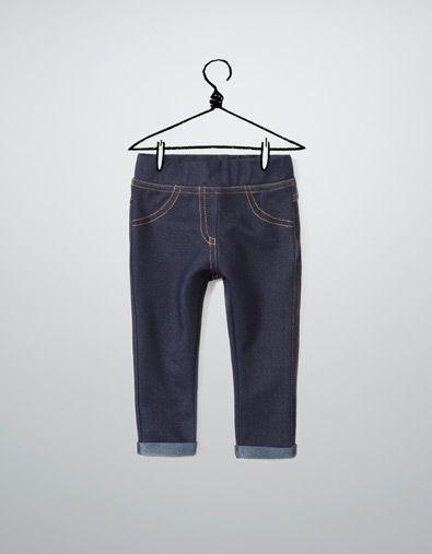 legging en molleton denim - Pantalons - Bébé fille (3-36 mois) - Enfants - ZARA France