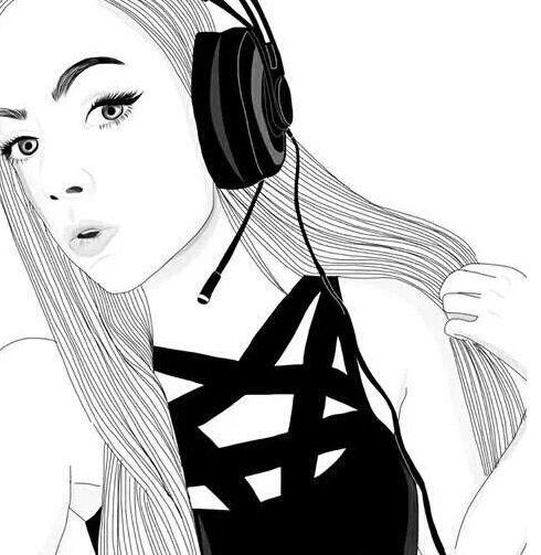 pinterest : brittesh18 ♡ | Outlines | Tumblr girl drawing ...