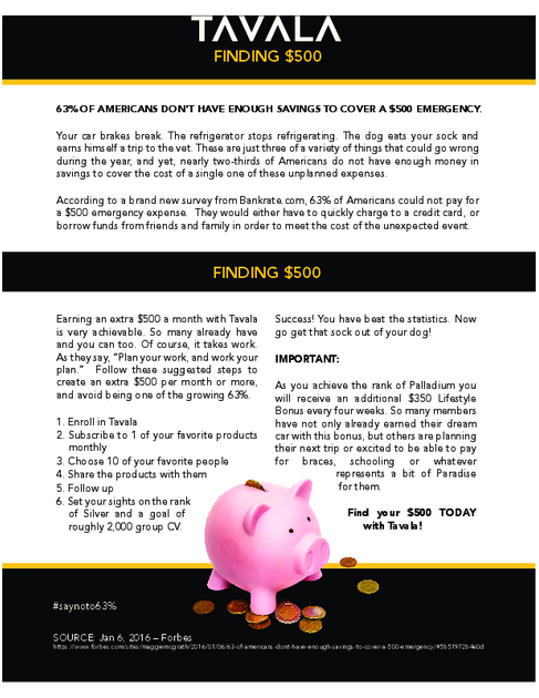 Finding $500 - Tavala App | Tavala Trim weight loss | Weight