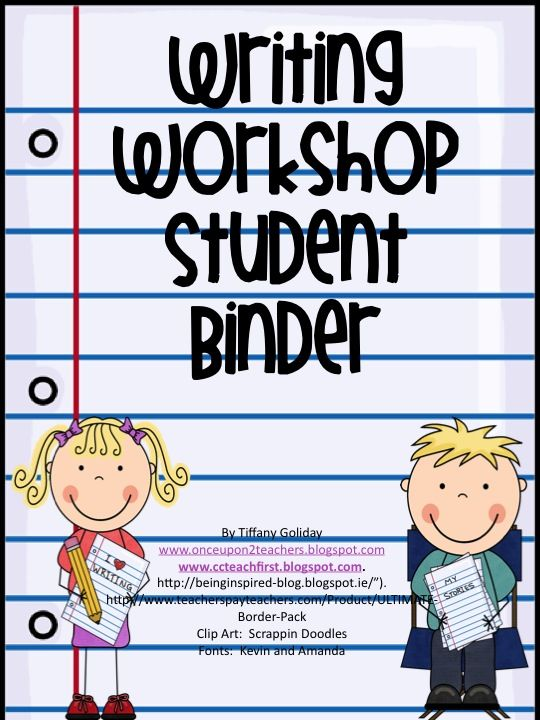 Awesome Writing Workshop Resource!  http://www.teacherspayteachers.com/Product/Writing-Workshop-Student-Binder-Sheets-and-Essentials-719418