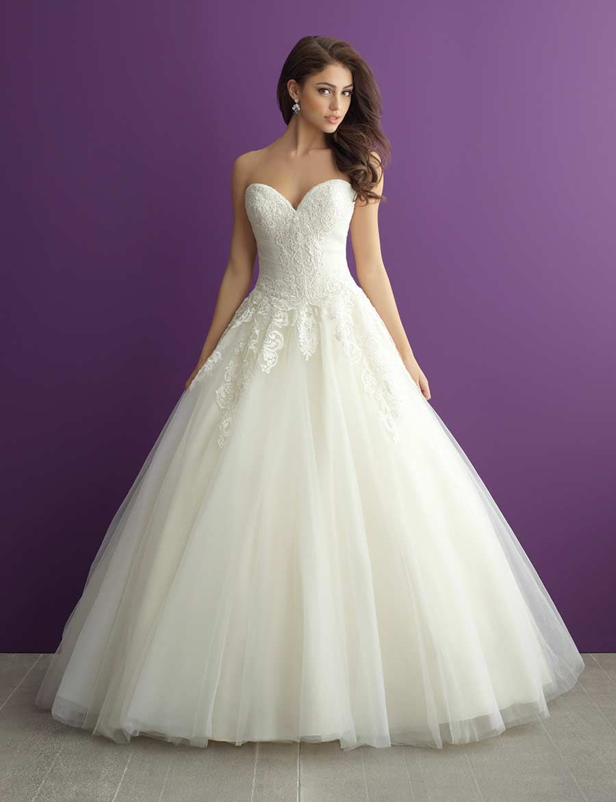 Fairytale ball gown wedding dresses  Simply breath taking this Aline ball gown from Allure has plenty