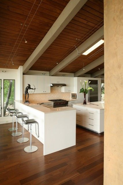 Westlake Remodel Sloped Ceiling Lighting Contemporary Kitchen Best Kitchen Lighting