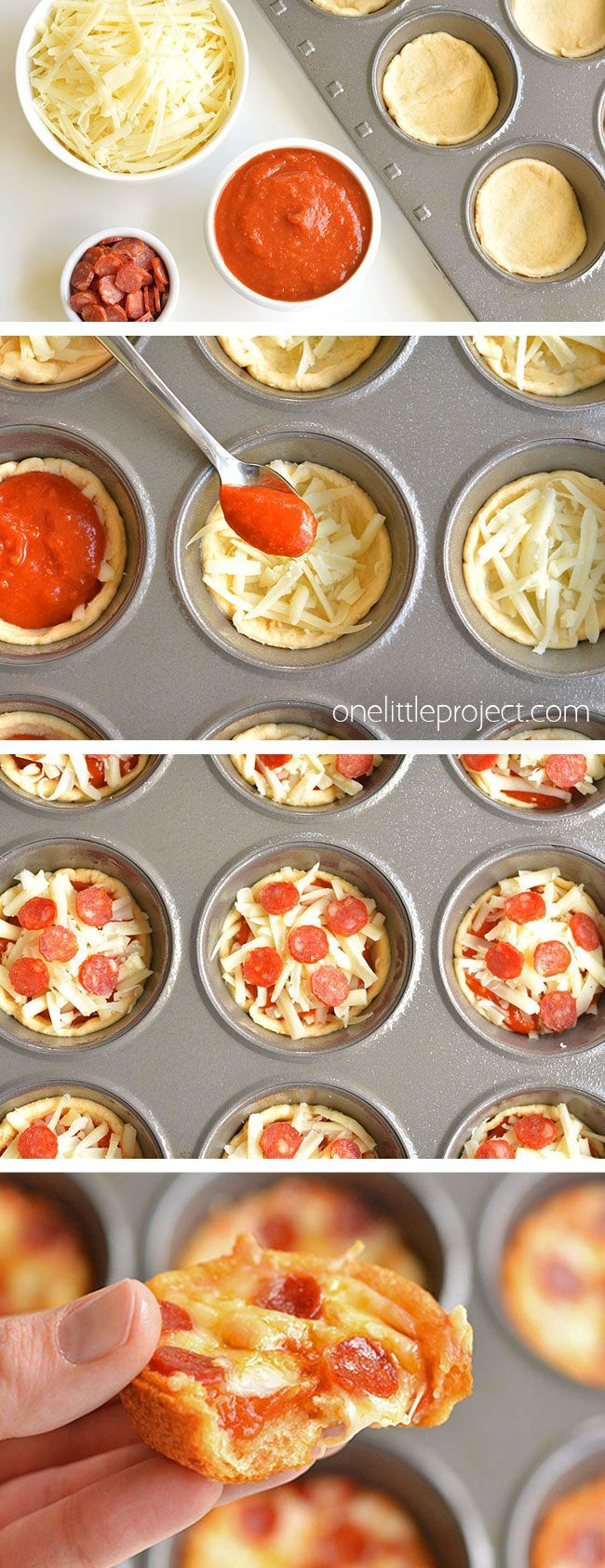 How to Make Deep Dish Mini Pizzas | Pizza Muffins