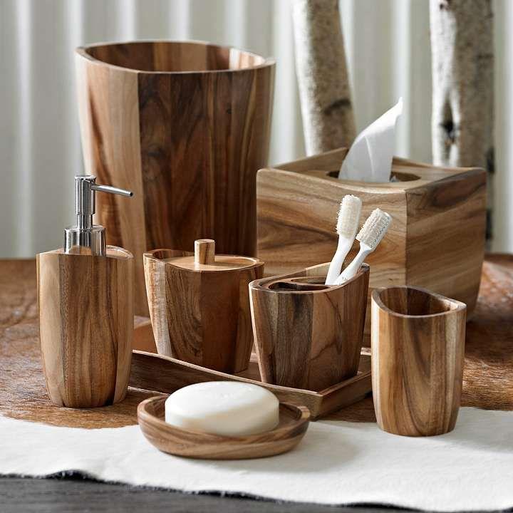 Acacia Wood Bath Accessories Grandin Road Wooden Bathroom Wood Bath Wood Bathroom