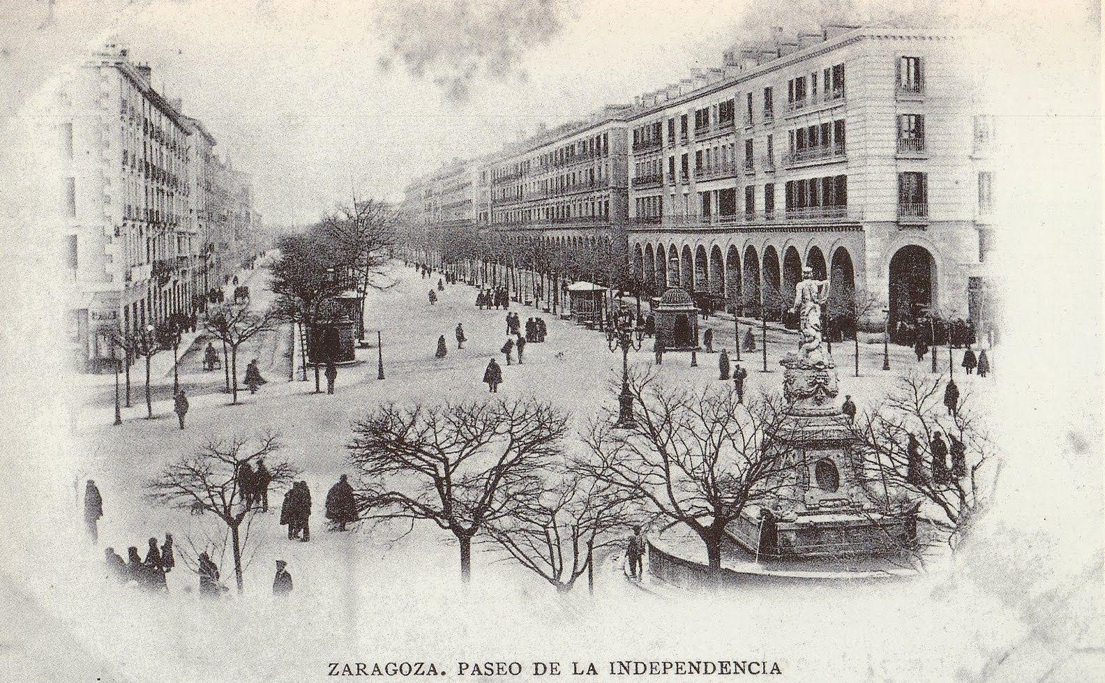 Preciosa imagen del Paseo de la Independencia de hace algunos años...