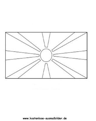 Ausmalbild Fahne Flagge Mazedonien Mazedonien Mazedonien Flagge Flaggen