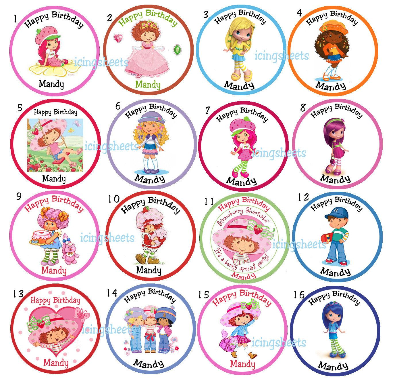 List Of Strawberry Shortcake Characters Like This Item
