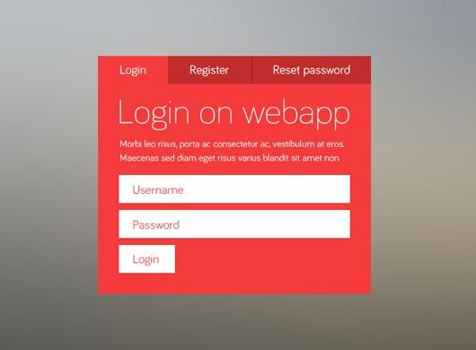login html template