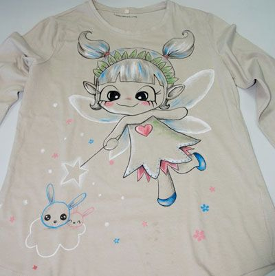 Camiseta  pintura textil