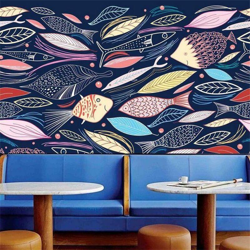 Abstrakte Kunst Tapeten Foto Wandmalereien Cartoon Tapetenbahn - bar fürs wohnzimmer