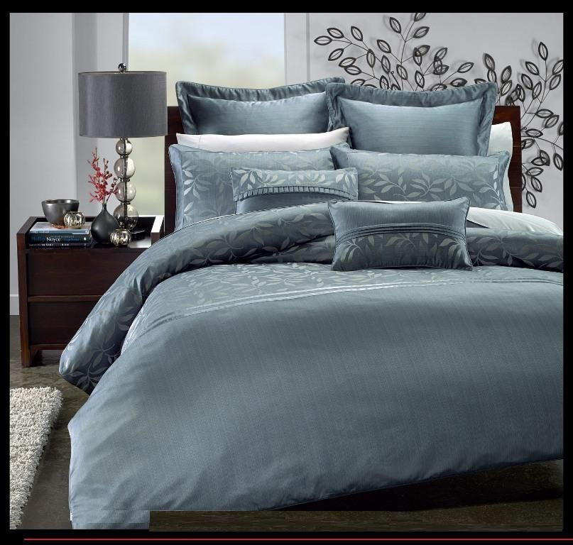 Royal Blue And Silver Comforter Set Queen Bed In A Bags