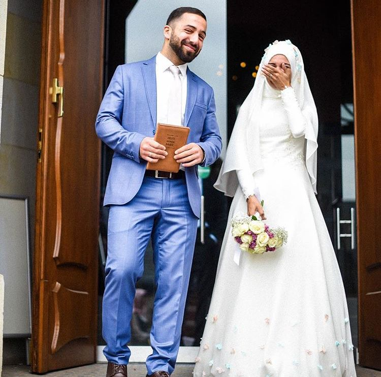 Hijab Bride Muslim Couples Islamic Marriage Wedding Inspiration Dress Couture