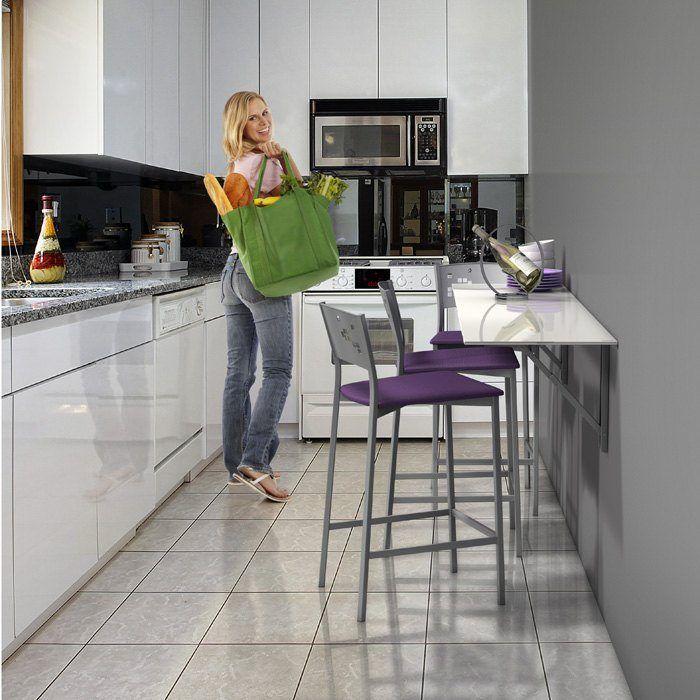 Mesa plegable de cocina decoraci n pinterest ideas for Mesa cocina silestone