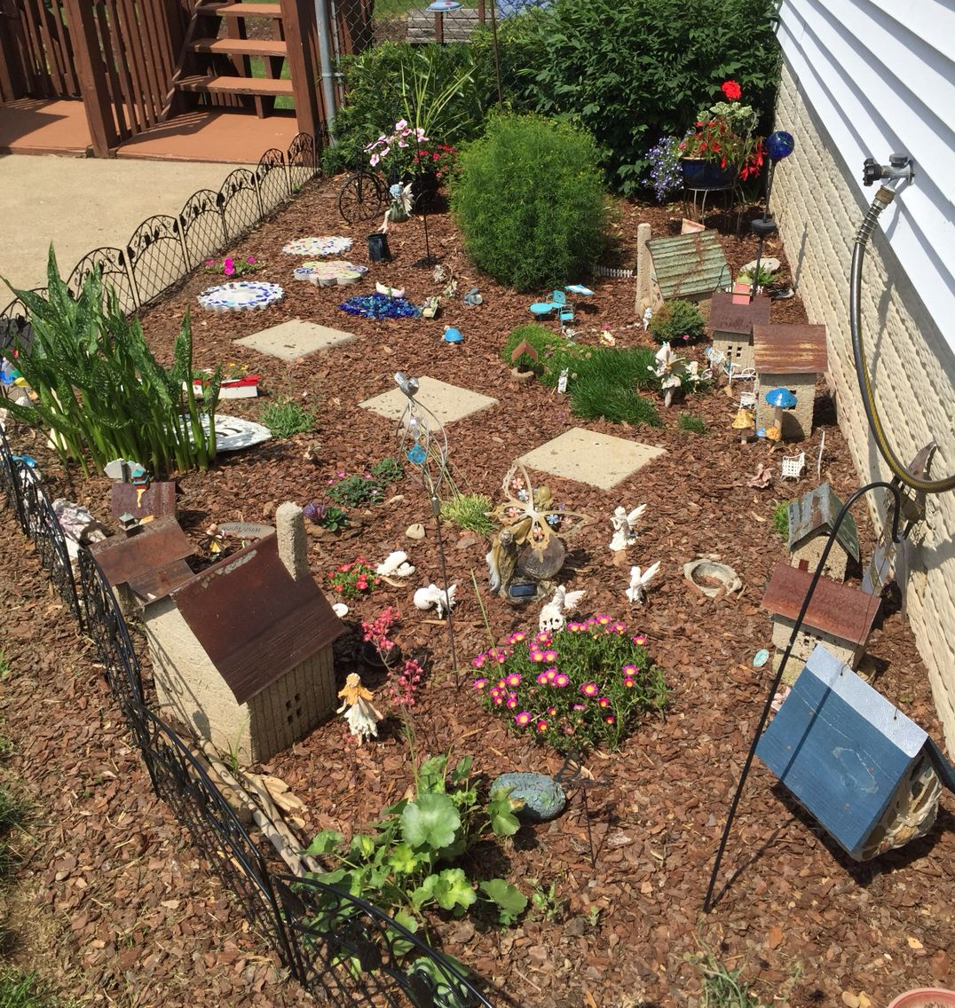 My fairy garden is growing!!   Fairy Garden   Pinterest   Gardens