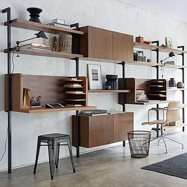etag res l110cm noyer taktik lot de 2 noyer bureau. Black Bedroom Furniture Sets. Home Design Ideas