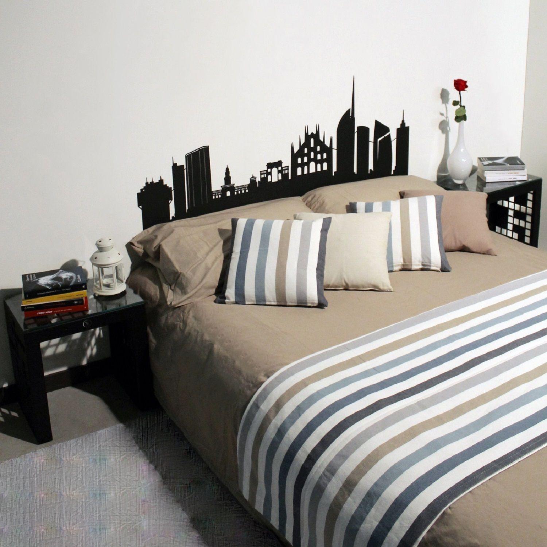 Testate letto skyline testiere per letto matrimoniale dal design moderno realizzato in metallo for Testate imbottite per letto matrimoniale