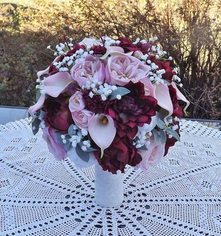 10 Stunning Dahlia Wedding Bouquets: Stunning Bridal Bouquet Of Roses, Dahlias, Calla Lilies