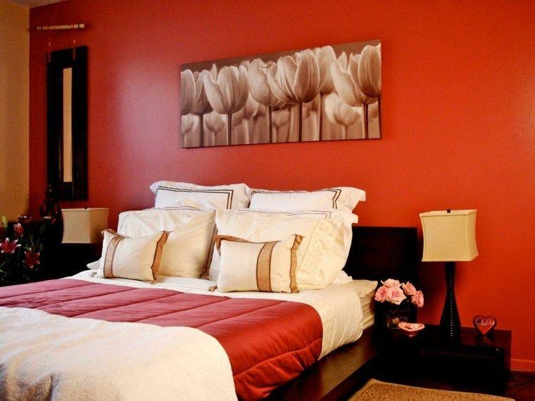 Zimmerfarbe 25 Ideen fröhliche Dekoration in Farben Pinterest - wohnzimmer rot orange