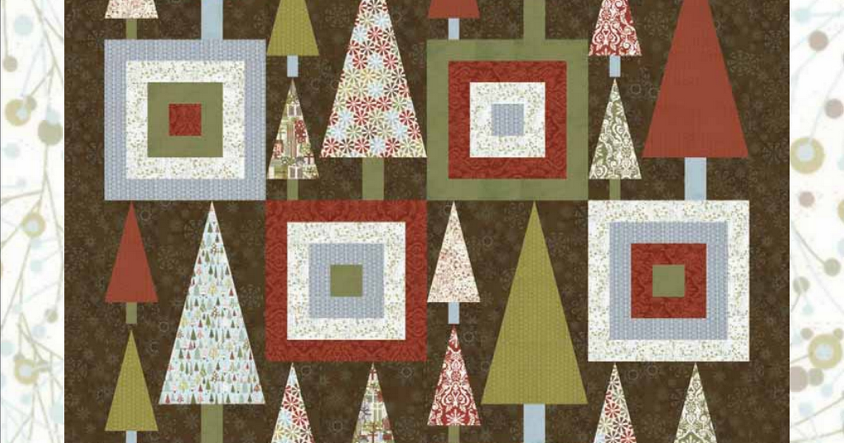 Figgy Pudding Christmas Tree By Moda Pdf Christmas Tree Quilt Modern Christmas Quilt Christmas Tree Quilt Pattern