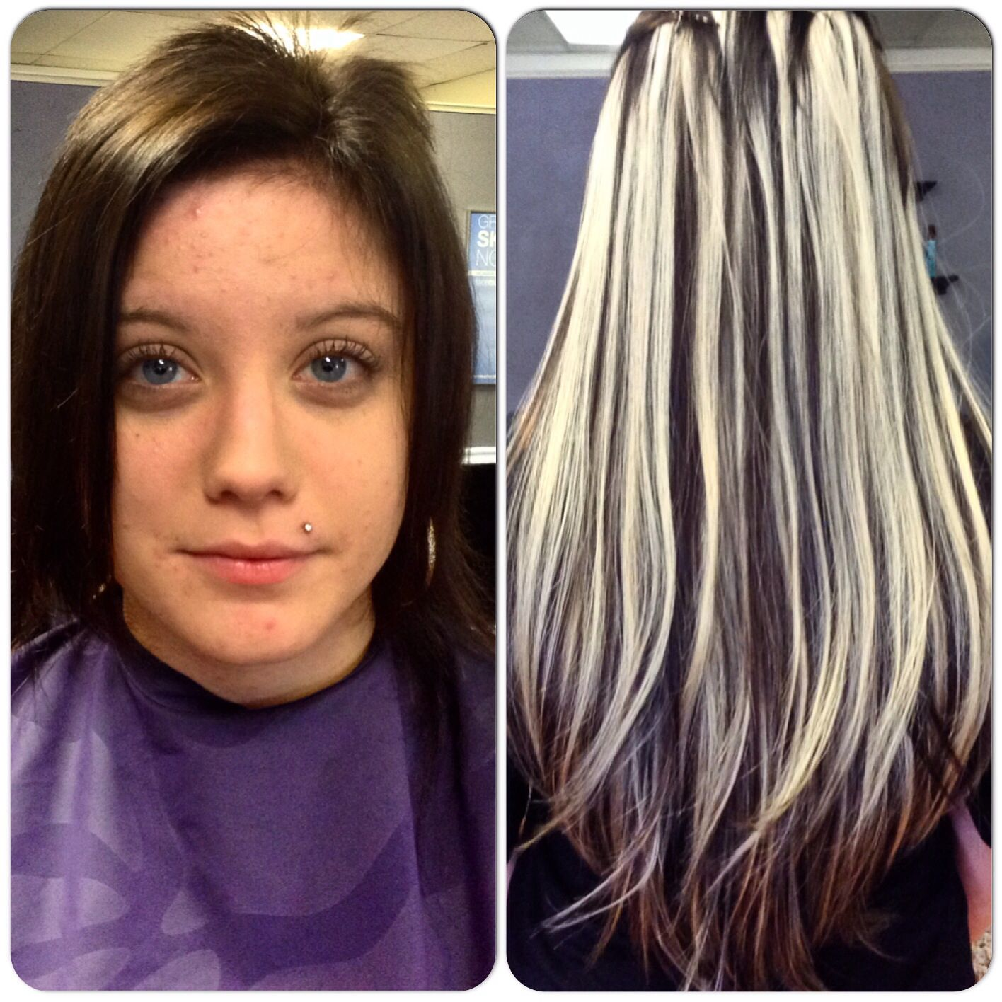 Before And After Photo Hotheads Hair Extensions Hairbytammy