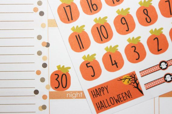 Halloween Countdown Stickers Fall Countdown by LetsMakeItSparkle