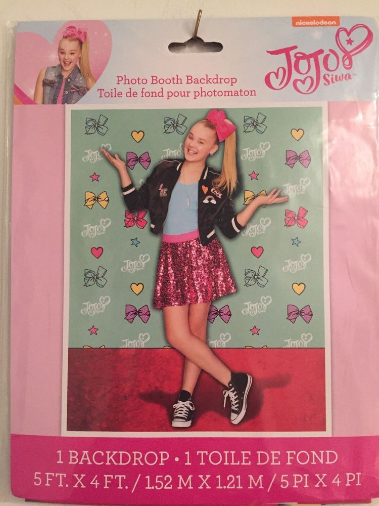 Jojo Siwa Photo Backdrop Birthday Party Supplies Plastic Poster