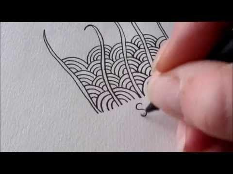 Tekenpraktijk De Innerlijke Wereld: How to draw tanglepattern Shattuck2