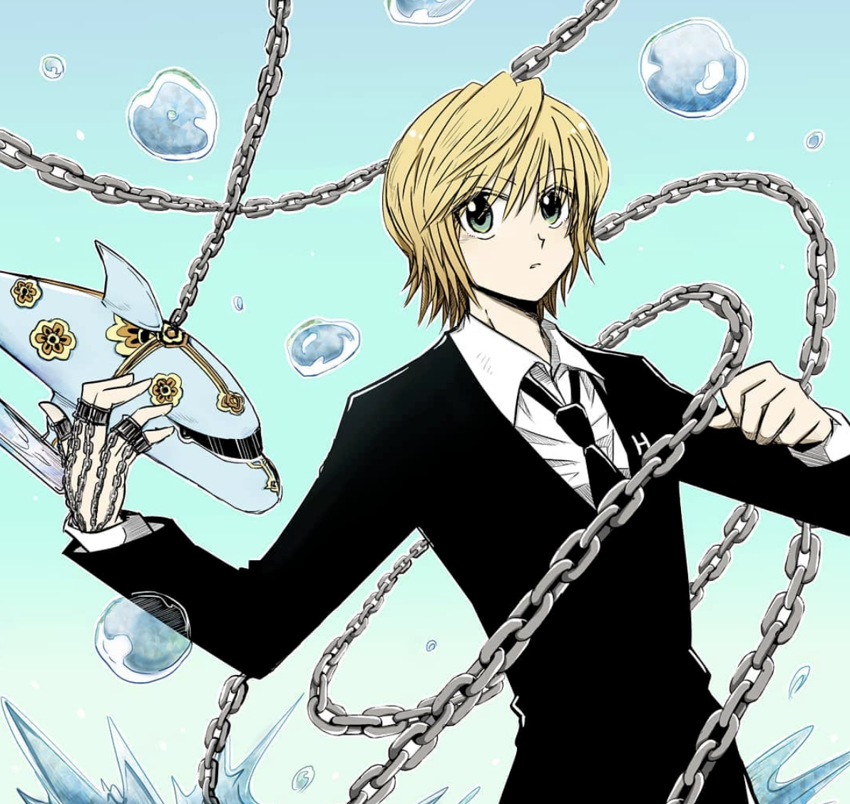 Pin by Hanesawa on Kurapika Hunter x hunter, Black