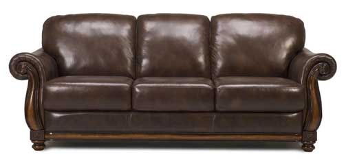 6794 Traditional All Leather Sofa Puritan Furniture CT.