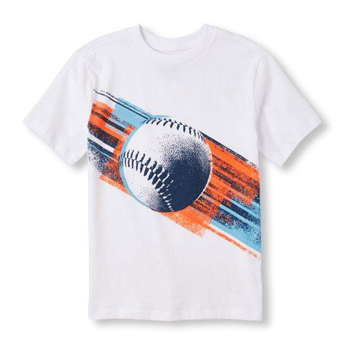 8ea38503436 Boys Boys Short Sleeve Baseball Graphic Tee - White T-Shirt - The  Children s Place